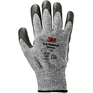 3M Cut Resistant Level-5 Safety Gloves G200 UHMWPE Nitrile Foam (2 Pairs) L i