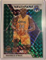 2019-20 Panini Mosaic Hall Of Fame Shaquille O'Neal Lakers Green Prizm Parallel