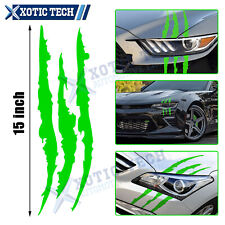 "15"" Green Vinyl Monster Claw Scratch Decal Reflective Stickers for Car Headlight"