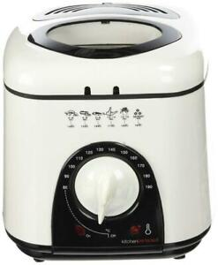 Kitchen Perfected E6010WI Compact Deep Fryer Ivory White 1.0Ltr Capacity