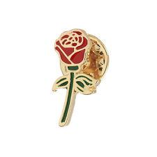 Rose enamel flower floral pin. Badge/Brooch. Vintage/boho/90s/blogger Accessory