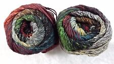 Noro Taiyo #21 Rust Hunter Grey & Black 100g Cotton Silk & Wool