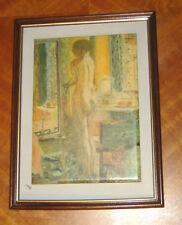 """Décoration reproduction """"Nu au miroir"""" de Pierre Bonnard 28 cm x 21 cm"""