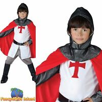 KIDS MEDIEVAL CRUSADER KNIGHT BOY - Age 3-10 - Boys Childs Fancy Dress Costume