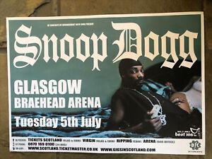 Snoop Dogg - Rare Concert/gig Poster - Glasgow Braehead - July 2005