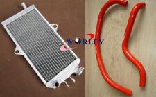 Aluminum Radiator & hose for SUZUKI Quadracer 250 LT250R 1985-1992 86 87 88 RED