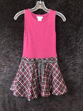 Girls Bonnie Jean Dress Sz 8 Sleeveless Pink, Black & White Plaid