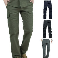 Men Climbing Hiking Multi-pockets Solid Color Quick Dry Tactical Pants Soft