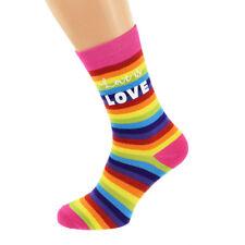 Love is Love Rainbow Design Socks Adult UK 5-12 - X6N841