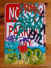 """Cope2   """" No Parking """"  Peinture Originale sur Panneau en métal , Graffiti Art"""