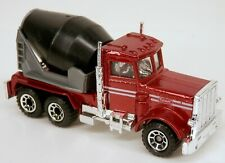 Matchbox Peterbilt Cement Truck Metallic Red Cab w/Black Mixer Drum 1/80 Scale
