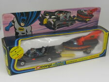 CORGI TOYS GIFT SET GS3 BATMAN BATMOBILE BATBOAT 1976 ORIGINAL ROCKETFIRING VNM