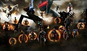 Marvel Avengers - Endgame Infinity War Battle Superhero Poster / Canvas Pictures