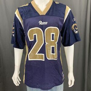 Marshall Faulk #28 Reebok St. Louis Rams Authentic Team Replica Jersey Medium
