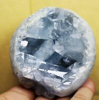 678g Rare Top Grade Gorgeous Sky Blue Celestite Ball Geode Rough Reiki Crystal