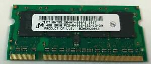 598855-001 HP 4GB PC2-6400 DDR2-800MHz non-ECC Unbuffered CL6 200-Pin SoDimm