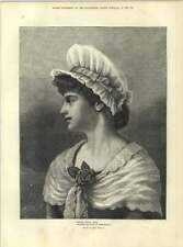 1883 Emily Mitchell Artwork Wearing The Rose Of Womanhood