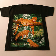 Beautiful T.Shirt With LEOPARDS Color In Front Black White At Back Size.S - XXL