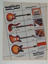 retro magazine advert 1983 WASHBURN falcon , force etc