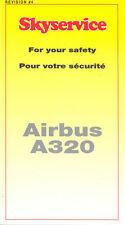 Safety Card - Skyservice - A320 - 2004 (Canada) (S2560)