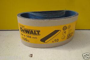 10 X DEWALT DT3668 64MM X 356MM SANDER SANDING BELTS 100GRIT D26480
