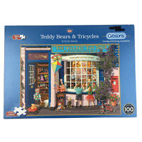 Teddy Bears & Tricycles Jigsaw Puzzle 500 XL Gibsons Village Toy Shop Window Kid