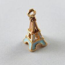 38817 10 Pcs Alloy Enamel Small Paris Eiffel Tower Pendant Charms 23*10*10mm