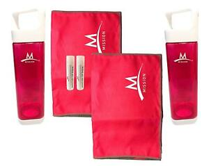 Mission Fuel & Cool - Set of 2 Water Bottles & Cooling Towels (Pink)