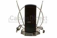 50+ Mile Digital Signal Booster Indoor Tv Antenna Vhf Uhf Fm  Radio 36db Gain