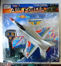 NEW AIRFORCE AIRPLANE Battery Operated Remote Control Sounds LIGHT Collect 9""