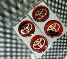 NEW 4 X TOYOTA Logo 35 mm Resin Wheel Center Caps Decal Emblem Sticker Badge Red