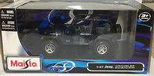 Maisto 1:27 Jeep Wrangler Rubicon Die Cast Model Car In Blue