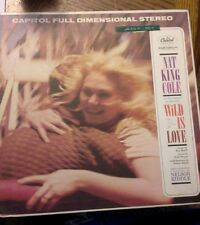 Nat King Cole - Wild Is Love LP Vinyl Record Album and book Capitol