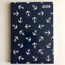 Taschenkalender 2019 Planer Timer Kalender A6, Motiv: Anker