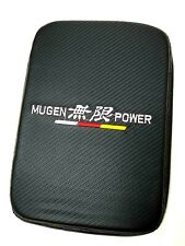 NEW UNIVERSAL MUGEN Carbon Fiber Car Center Console Armrest Cushion Pad Cover