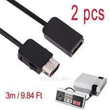 2pcs Câble de rallonge de 3m pour Nintendo Mini NES Classic Wii Controller
