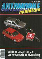 AUTOMOBILE MINIATURE N°82 SOLIDO ET CITROEN : LA ZX / NOUVEAUTES DE NUREMBERG