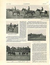Ecurie de la Fouilleuse Hippodrome de Saint-Cloud équitation Cheval GRAVURE 1905