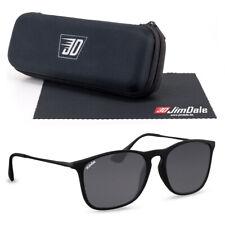 Jim Dale Sonnenbrille Unisex Schwarz getönt UV400 Markenbrille Kunsstoff Metall