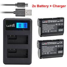 2x EN-EL15 Battery + Dual LCD Charger for Nikon D800e D7000 D800 D810 D610 D750