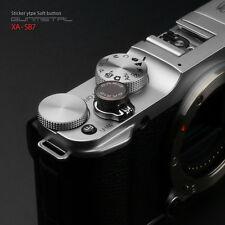 GARIZ Metal Sticker Type Camera Soft Button - Gunmetal Fujifilm Sony Canon fit