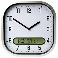 Lifemax Clear Time Day-Date Wall Clock