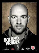 Roland Vrabec AUTOGRAFO biglietto FC St Pauli 2013-14 ORIGINALE FIRMATO + a 128938