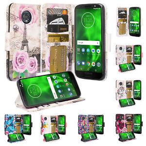Motorola Moto G6 2018 Case, Pu Leather Magnetic Flip Kickstand Wallet Case Cover