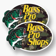 2x BASS PRO SHOPS Logo Vinyl Sticker Decal Car Truck Hunting Fishing