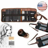 36 Holes Pencils Bag Tools Sketch Holder Pouch Case Wrap Pen Drawing Art Kit Set