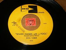 DON TABER - SHAKE HANDS WITH A FOOL - HOLD ME HOLD ME   / LISTEN - VOCAL JAZZ