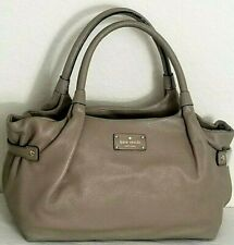 🌞KATE SPADE STEVIE BERKSHIRE ROAD LARGE OYSTER KHAKI LEATHER SATCHEL BAG🌺NWT