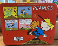 1965 Vintage Thermos Peanuts Red Color Lunchbox + Thermos
