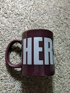 Hershey's Chocolate Since 1894 Ceramic Coffee Cup Mug Brown Silver Letters